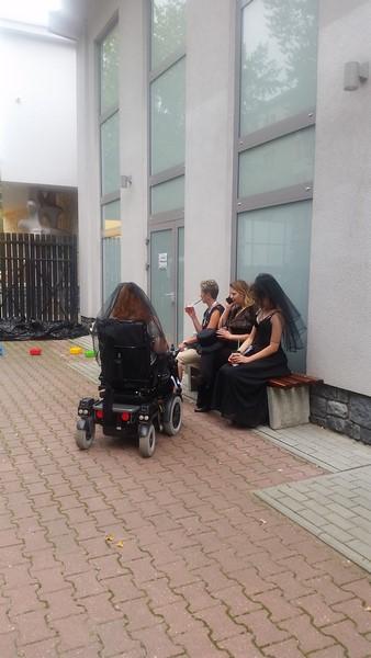 Elektrycznym wózkiem na lubelskim Polconie.